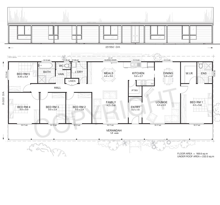 daintree 5 met kit homes 5 bedroom steel frame kit