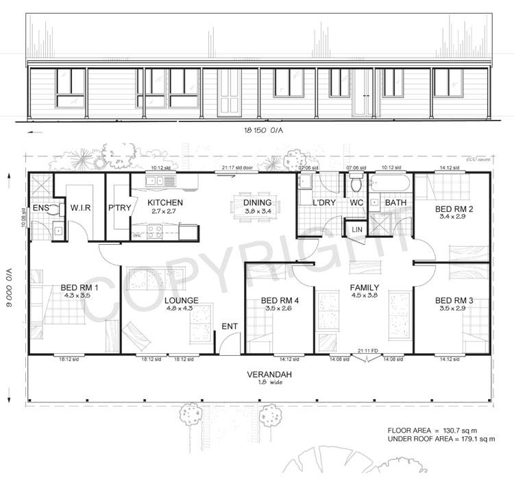 Home Design For 4 Room: 4 Bedroom Steel Frame Kit