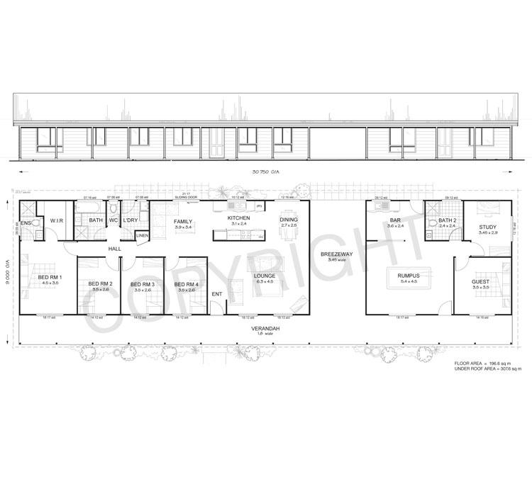 Floor Plans Designs For Homes: 5 Bedroom Steel Frame