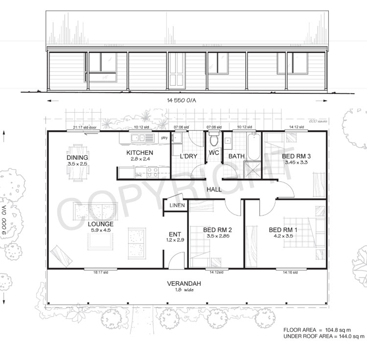 Hunter 3 Met Kit Homes 3 Bedroom Steel Frame Kit Home