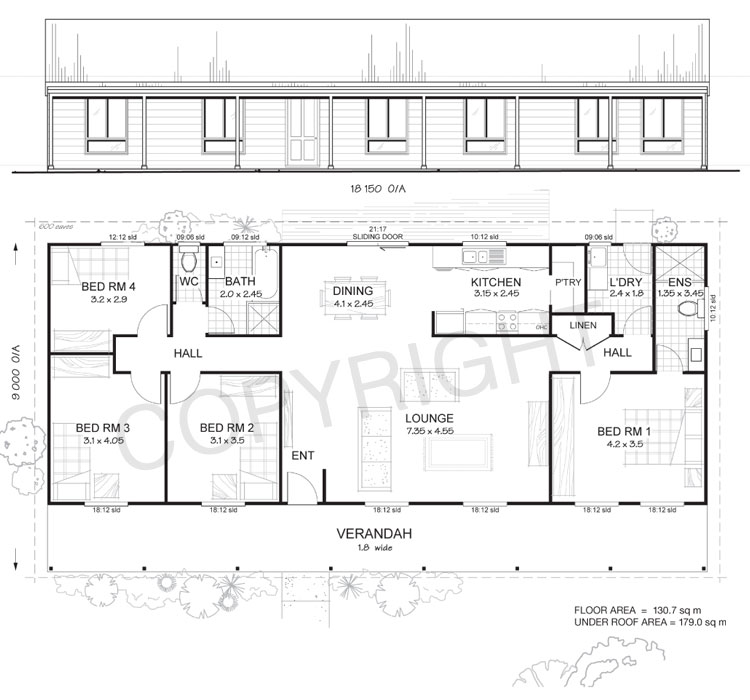 4 bedroom pole barn house floor plan joy studio design for Pole barn home floor plans