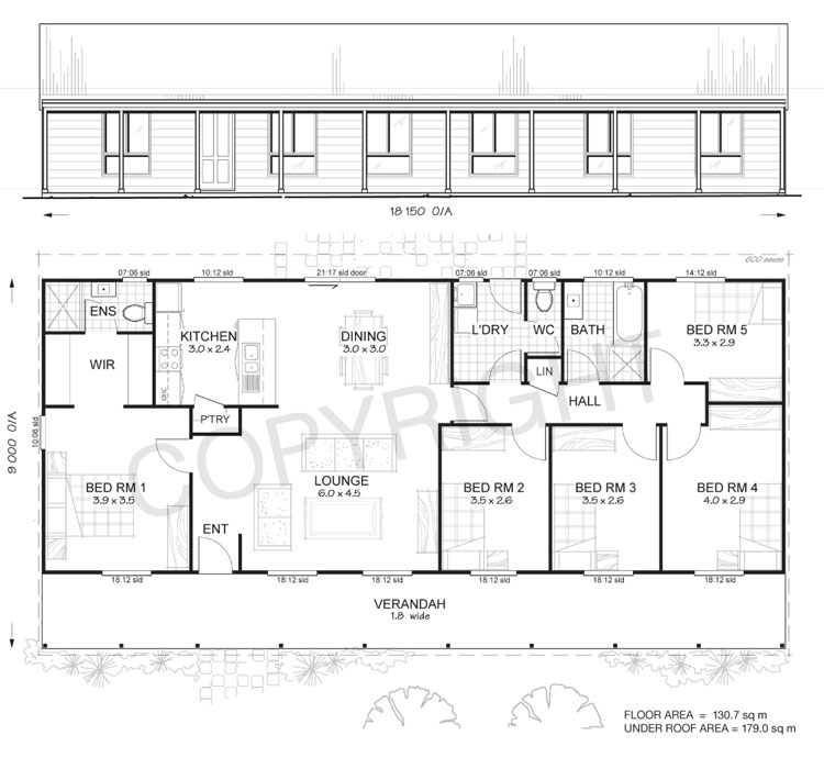 Sandford 5 Met Kit Homes 5 Bedroom Steel Frame Kit