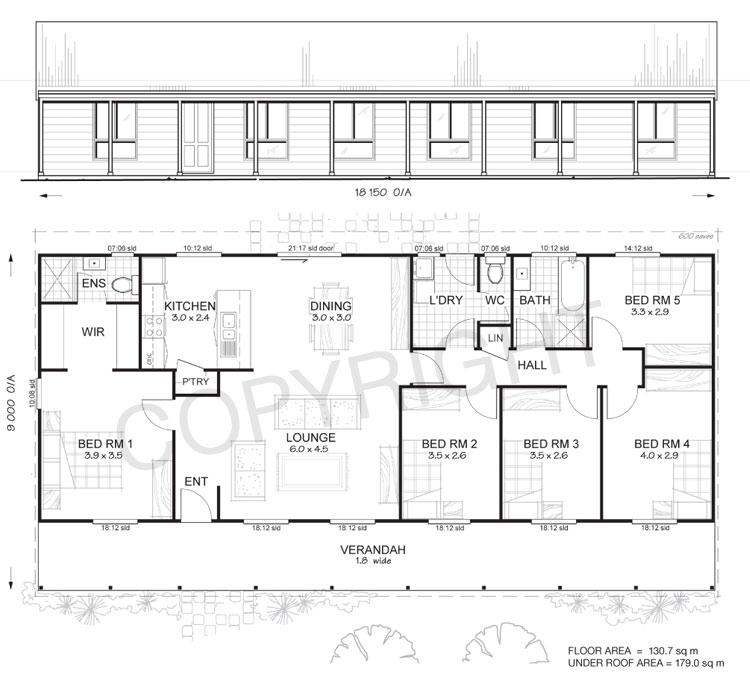5 Bedroom House Designs: 5 Bedroom Steel Frame Kit