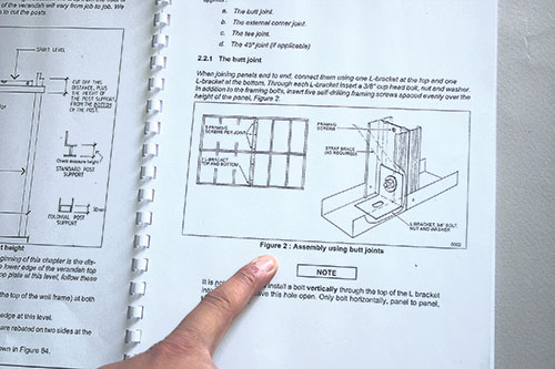A well documented kit home construction manual is supplied with easy to follow, step by step instructions and diagrams.