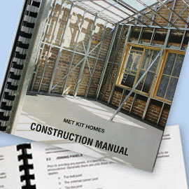 KIT HOME CONSTRUCTION MANUAL: Individually prepared step by step instructions, customised to customer's plan.