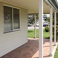 KIT HOME VERANDAHS: Verandahs are included as illustrated