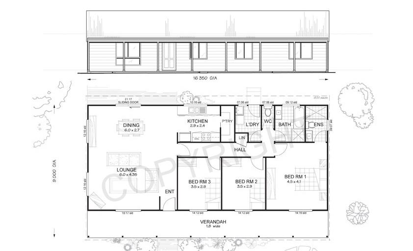 Argyle 3 Bed Steel Frame Floor Plan Met Kit Homes