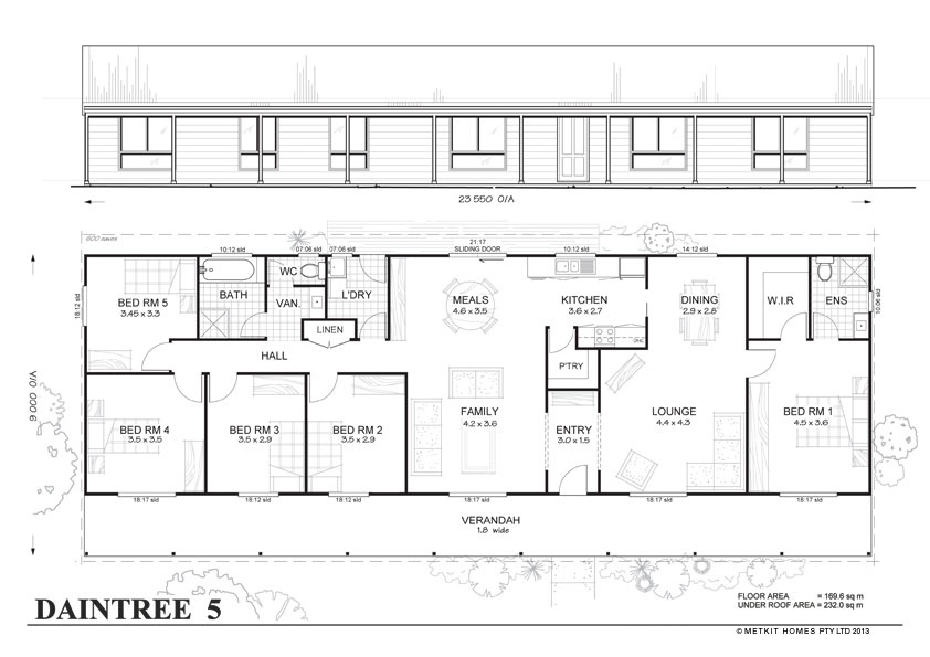 Daintree 5 met kit homes 5 bedroom steel frame kit for 5 bedroom home plans
