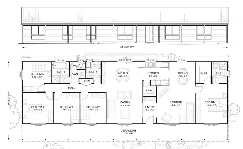 5 Bedrooms | Daintree 5 Met Kit Homes 5 Bedroom Steel Frame Kit Home Floor