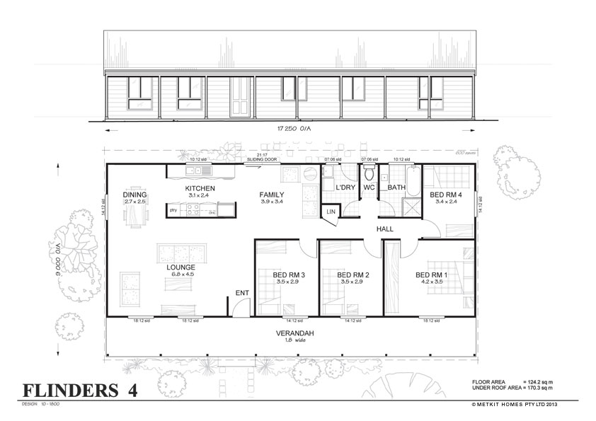Flinders 4 met kit homes 4 bedroom steel frame kit Metal frame home plans