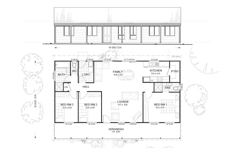 Met-Kit Homes floor plans - Blaxland 3 - Affordable, budget steel frame Kit Homes Australia Wide