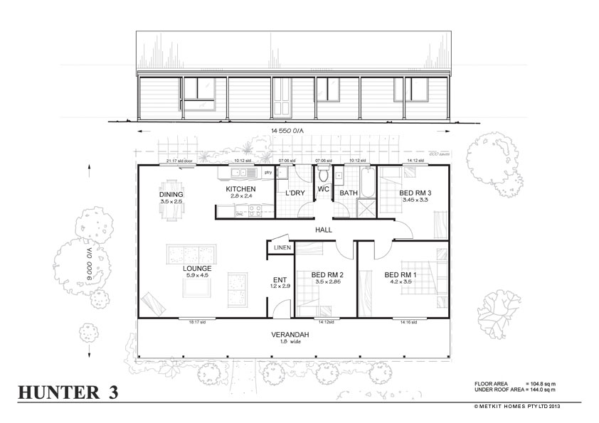 Kit homes 4 bedroom steel frame kit home floor plan metkit Metal frame home plans