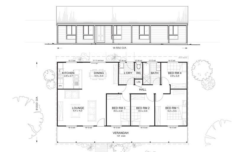 Mitchell 4 MetKit Homes 4 Bedroom Steel Frame Kit Home Floor – Mitchell Homes Floor Plans