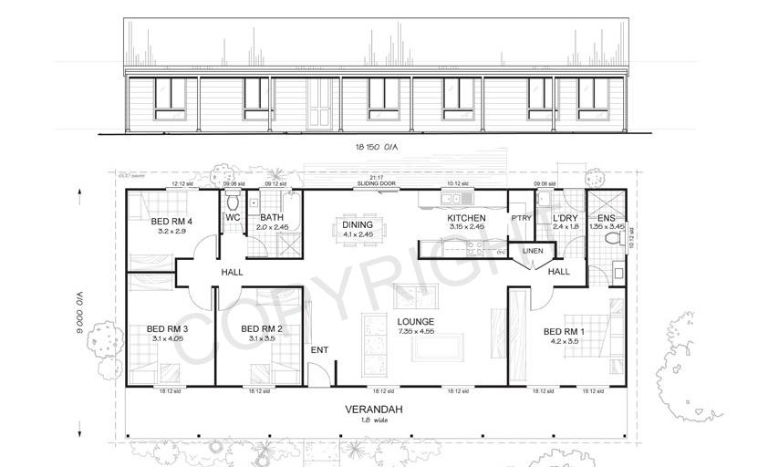 Sandford 4 Bed Steel Frame Floor Plan Met Kit Homes