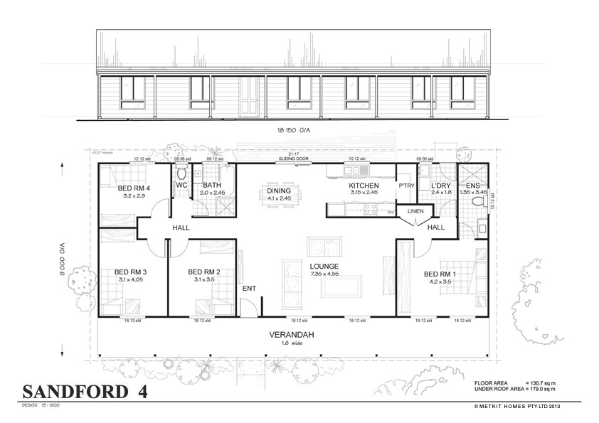 Metal Home Floor Plans 4Bedroom
