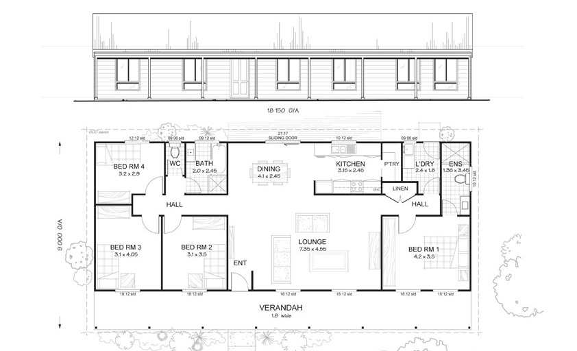 Met kit homes floor plans blaxland 3 affordable budget steel frame kit