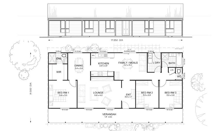 Springvale 3 - Met-Kit Homes - 3 Bedroom Steel Frame Kit Home Floor ...